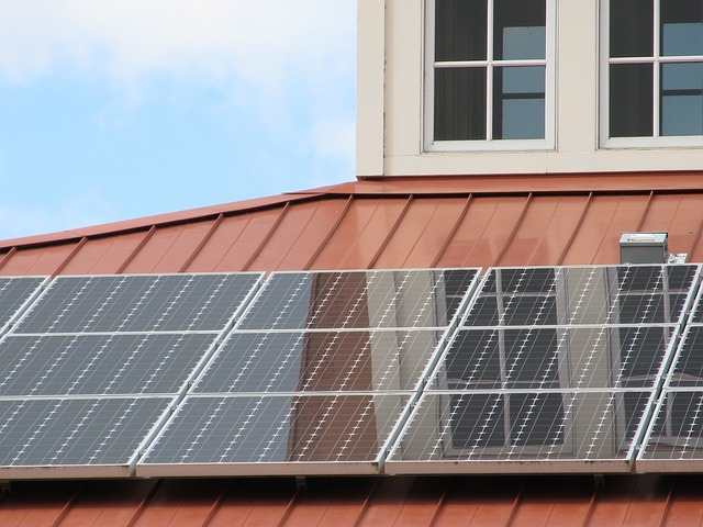 solární panel array