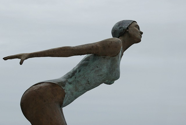 socha plavkyně