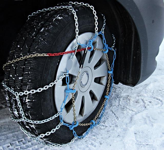 sněhové řetězy na kole