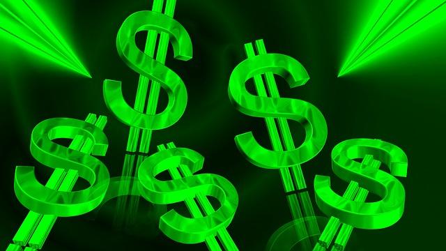 symboly dolarů